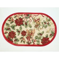 serweta świąteczna - elfy owal