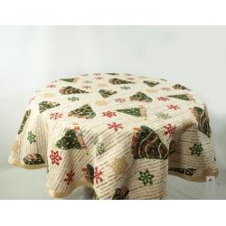 serweta świąteczna - choinki koło