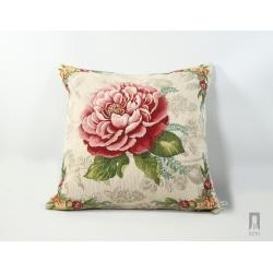 Poduszka gobelinowa Róża czerwona