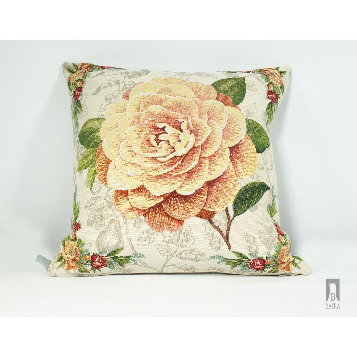 Poduszka gobelinowa Róża żółta