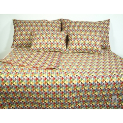 Bedspread with floral motif