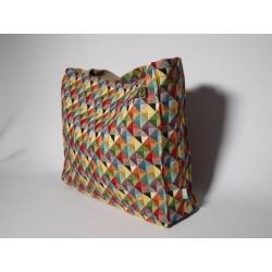 Torba gobelinowa trójkąty kolorowe