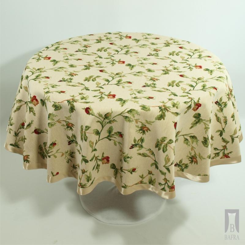 Obrus Gobelinowy Róża Pąk - Koło