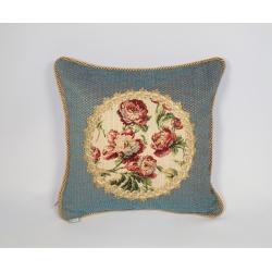 Poszewka z aplikacją gobelinową róża drobna