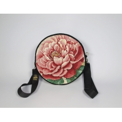 Tkanina gobelinowa koło róża czerwona bafra