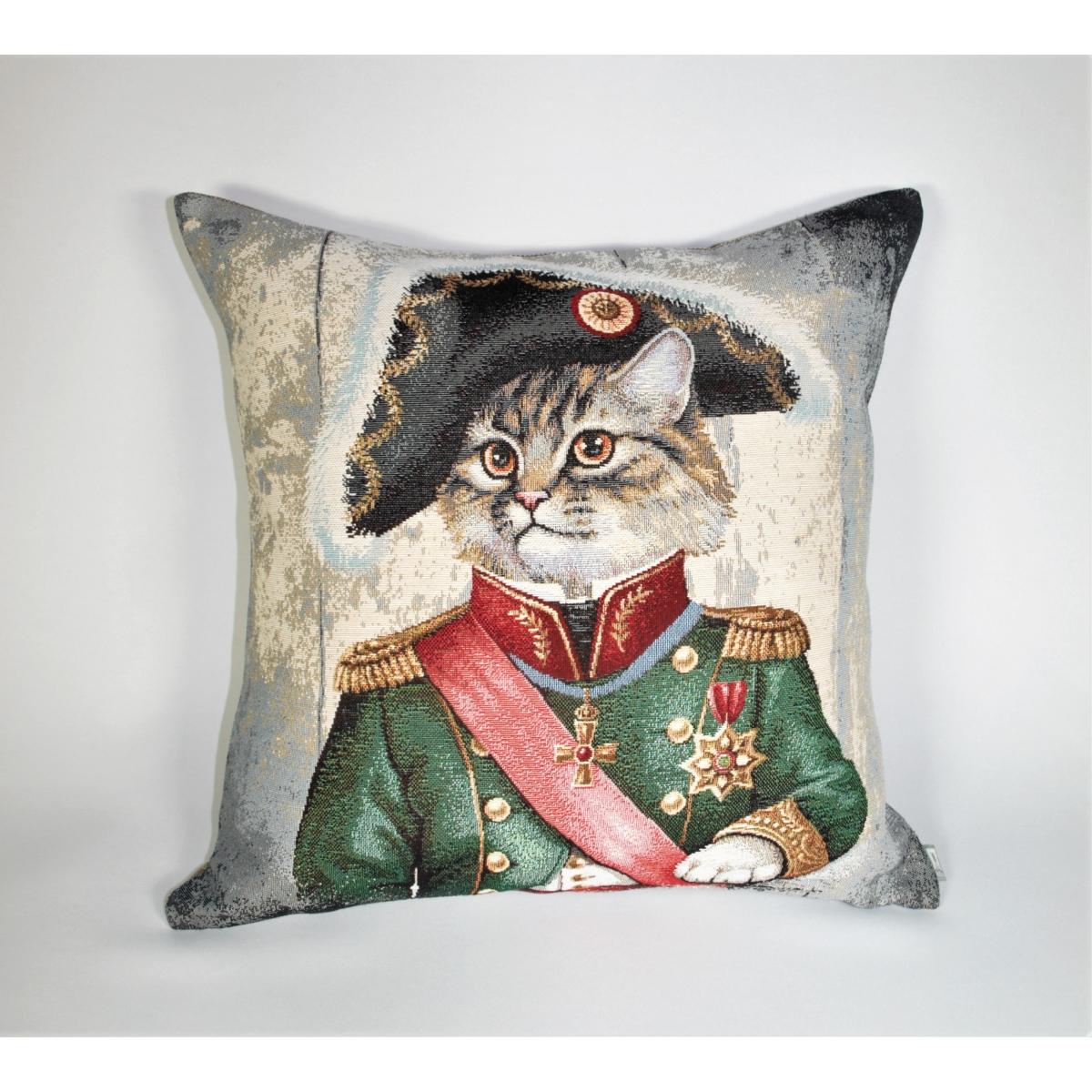 Poduszka Kot Napoleon zielony