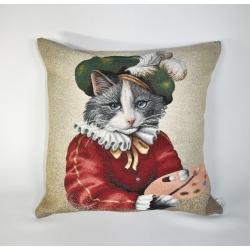 Poduszka Kot Malarz