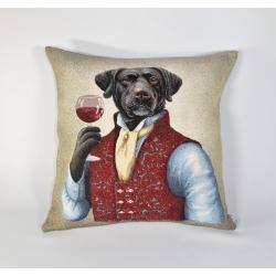 Poduszka gobelinowa Pies Lord - Jednostronna