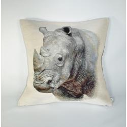 Poduszka gobelinowa Nosorożec - Jednostronna