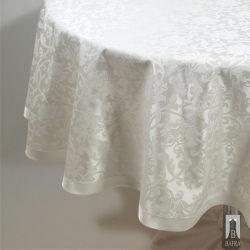 TABLECLOTH MONA WHITE – CIRCLE