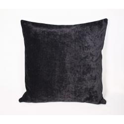 Poszewka jednokolorowa welurowa - czarna