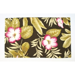 Serweta brązowa w kwiaty