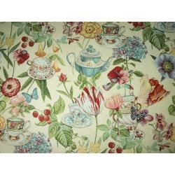Tkanina Gobelinowa Kwiaty Kolorowe
