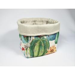 Koszyk pojemnik Kaktusy do łazienki
