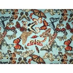 Tkanina Gobelinowa Motyle Niebieskie