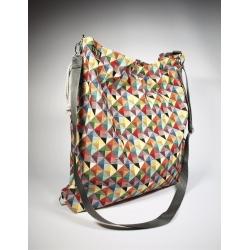 Torba-plecak transformer Trójkąty kolor