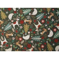 Obrus gobelinowy Świąteczny Zielony - Kwadrat
