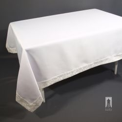 STAIN-RESISTANT WHITE TABLECLOTH – RECTANGLE