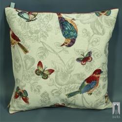 Poduszka gobelinowa Ptaki i Motyle