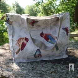 Torba gobelinowa - ptaki i motyle Bafra