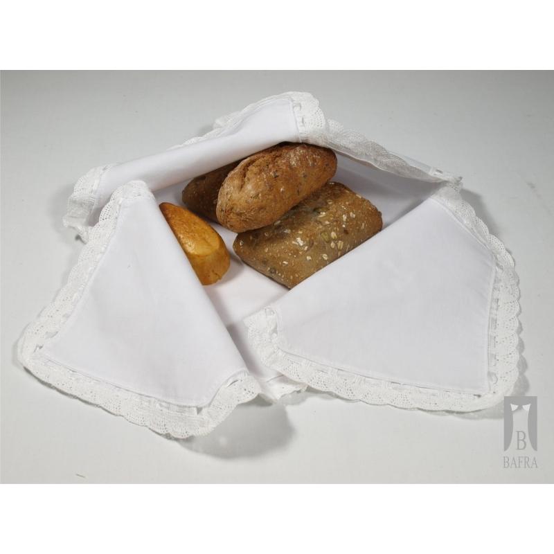 Chlebak serwetka mus biała