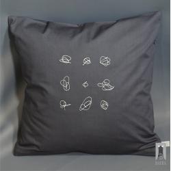 Poduszka haft graficzny - Gryzmoł